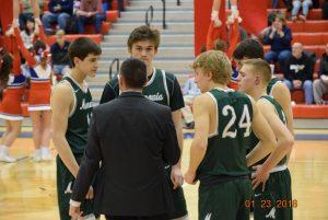 Varsity Boys Basketball at Plainfield   1-23-18
