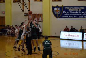 Varsity Boys Basketball at Lutheran  2-17-18