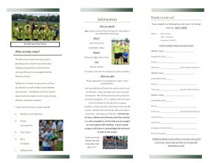 RUNNING CAMP Information and Flyers