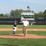 WRTV's Dave Furst Throw our 1st Pitch at Monrovia vs. Lutheran Baseball Game