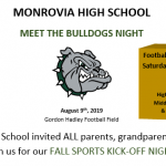 Meet the Bulldogs Night – This Friday at 6 PM