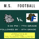 MS Football Opens Up TONIGHT vs. Franklin Community MS