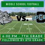 Middle School Football Hosts Cascade Tonight at 6:00 PM