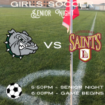 Girls Soccer – Senior Night – TONIGHT @ 5:50 PM