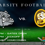 Football Friday: Bulldogs Host the Sparkplugs Tonight at 7:00pm. (Homecoming at Halftime)