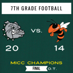 7th Grade Football Beats Beech Grove in OT, Wins the MICC Title!