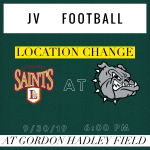 ⚠️JV Football – Location Change for this Monday (9/30/19)⚠️
