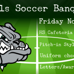 Girls Soccer Banquet TONIGHT (Nov. 8th @ 6:00pm)