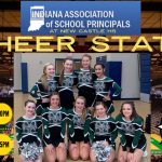 Good Luck to Varsity Cheerleading Today as they Compete at the IASP State Championship!