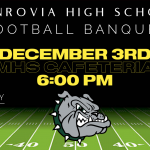 Football Banquet – Rescheduled for December 3rd