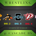Varsity Wrestling is at the Cascade 5-way Duals Today