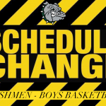 Freshmen Boys Basketball – Schedule/Opponent Change