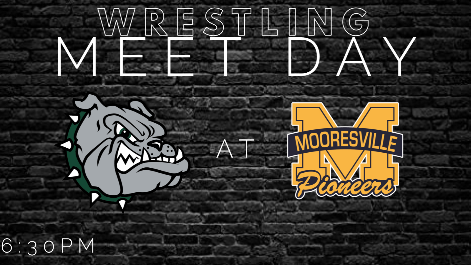 Bulldog Wrestling Travels to Mooresville tonight! (6:30pm)