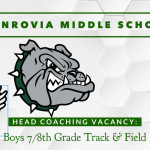 Coaching Vacancy – Boys & Girls Middle School Track – Head Coaches – Monrovia Middle School (repost)