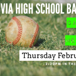 High School Baseball Callout Meeting – Rescheduled for Thursday Feb. 6th