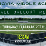 Middle School Football – Callout Meeting (Thurs. Feb. 27th in the MS Science Room @ 10:30 AM)