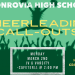 High School Cheerleading – Callout Meeting (Monday March 2nd at 2:00 PM)
