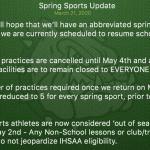Monrovia Athletics – Spring Sports Update – March 21st, 2020