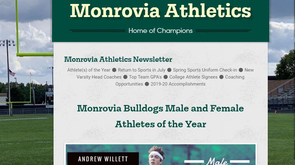 Monrovia Athletics – Newsletter (5/29/20)