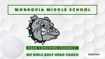 Coaching Vacancy – Boys & Girls Middle School Golf – Head Coaches