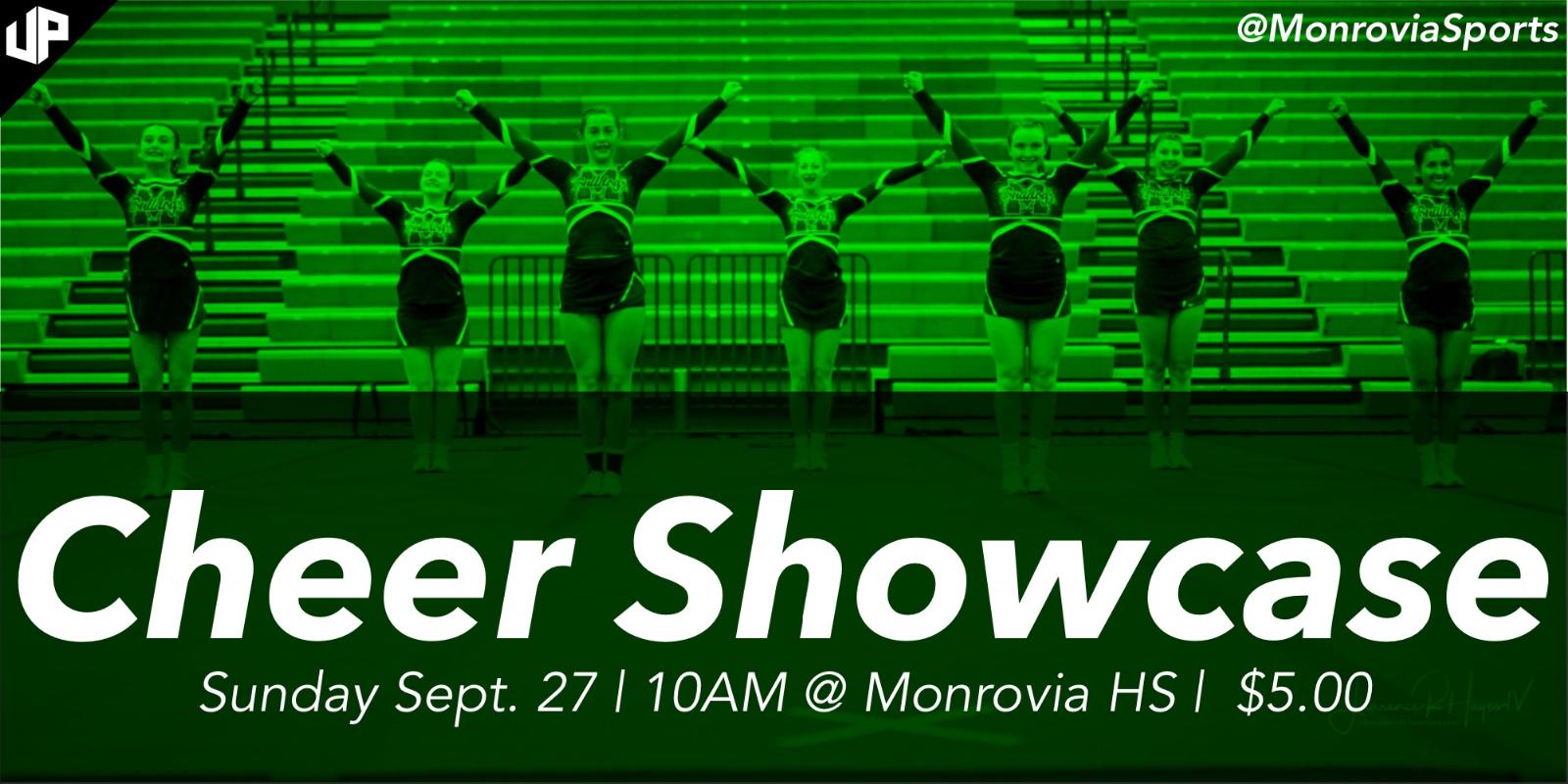 Cheer Showcase – Sept. 27th @ 10:00 AM
