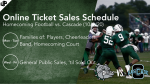 Varsity 🏈 Online Ticket Sales – Homecoming – Monrovia vs. Cascade (10/9/20)