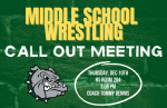 Monrovia Middle School Wrestling – Callout Meeting – THURSDAY – DEC. 10th