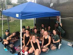 Girls Tennis JV Quad