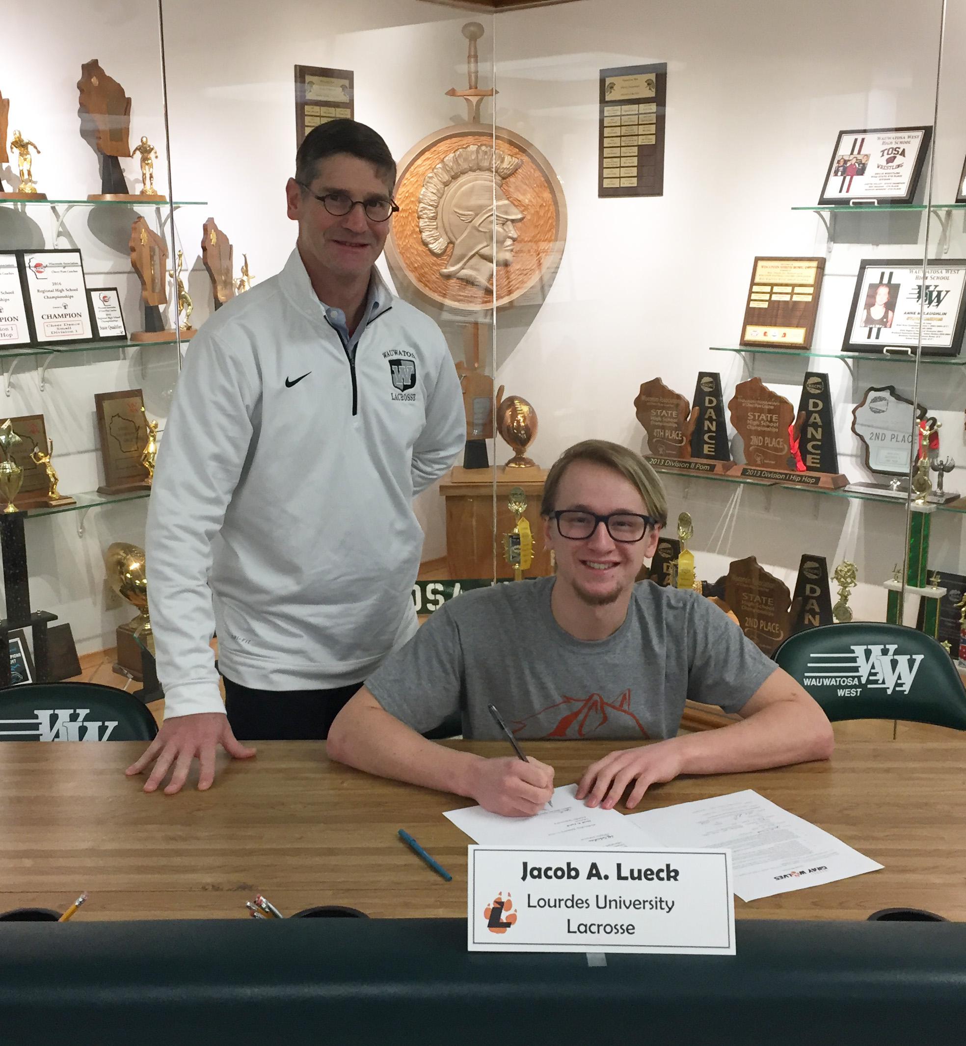 Athlete Signing — J. A. Lueck