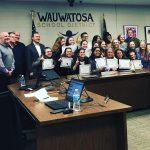 Trojan Dance Team Recognized at School Board Meeting