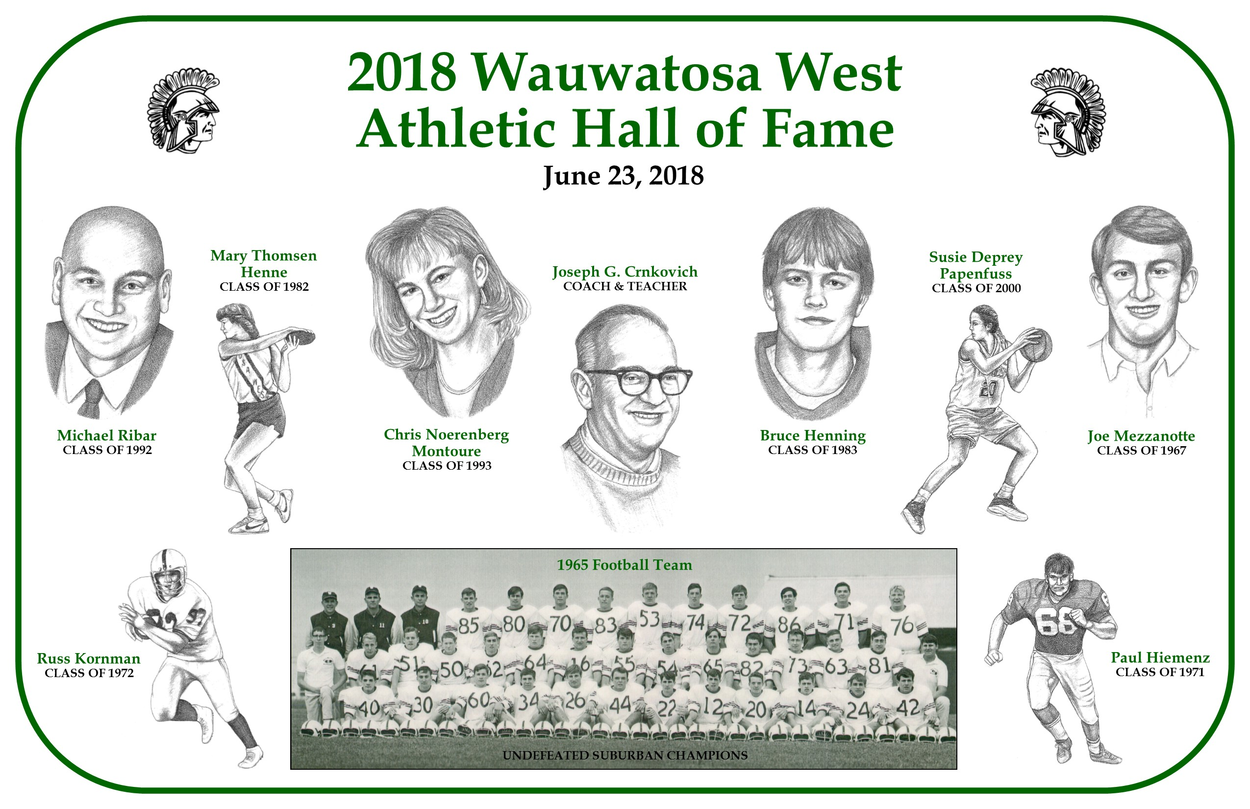 2018 Athletic Hall of Fame Ceremony