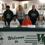 2-19-19 Athlete Signings - A. Johnson-Moorer, L. Nemitz, J. Simmons & S. Whitlock