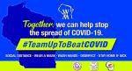 #TeamUpToBeatCOVID
