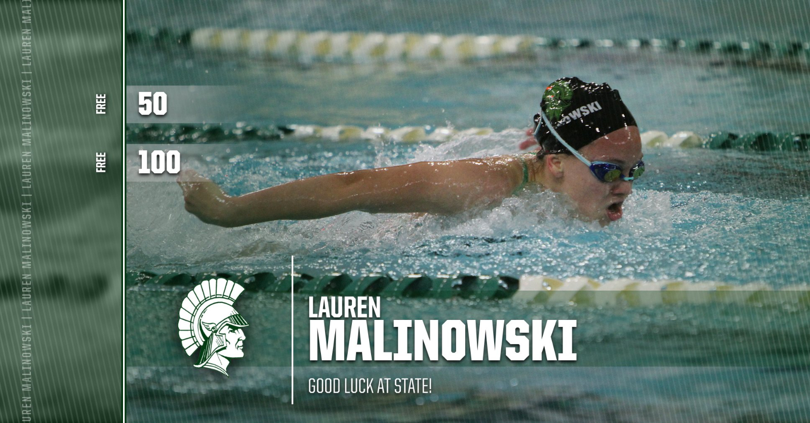 L. Malinowski Breaks 2 Records in Swim and Heads to State!