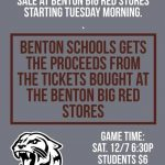 SUPPORT BENTON SCHOOLS WITH PRE-PURCHASED TICKETS