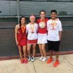 Taft JV Tennis Medal At East Central Tournament