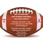Taft Raider Football Tailgate Party