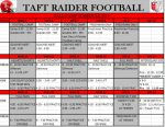 Football Fall Camp Schedule