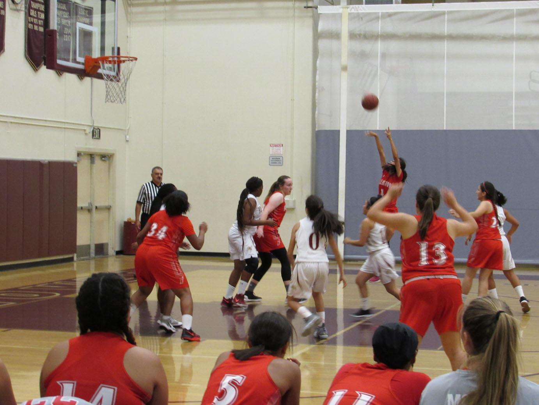 Girls Varsity Basketball wins over Bellflower 45-24