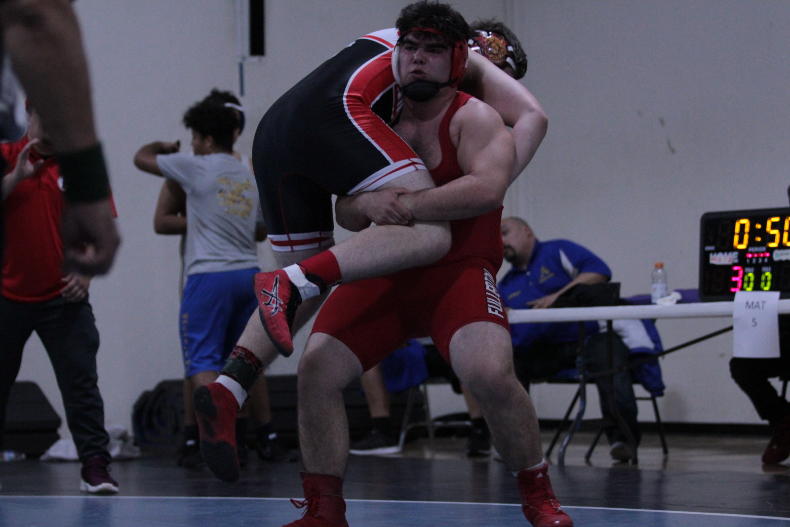 BP defeated 45-25-CIF Wrestling Feb 14-15 at Brea HS