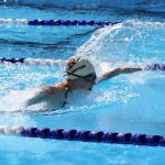 Girls Varsity Swimming beats La Habra 52 – 21