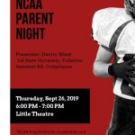 NCAA Parent Night at Fullerton High