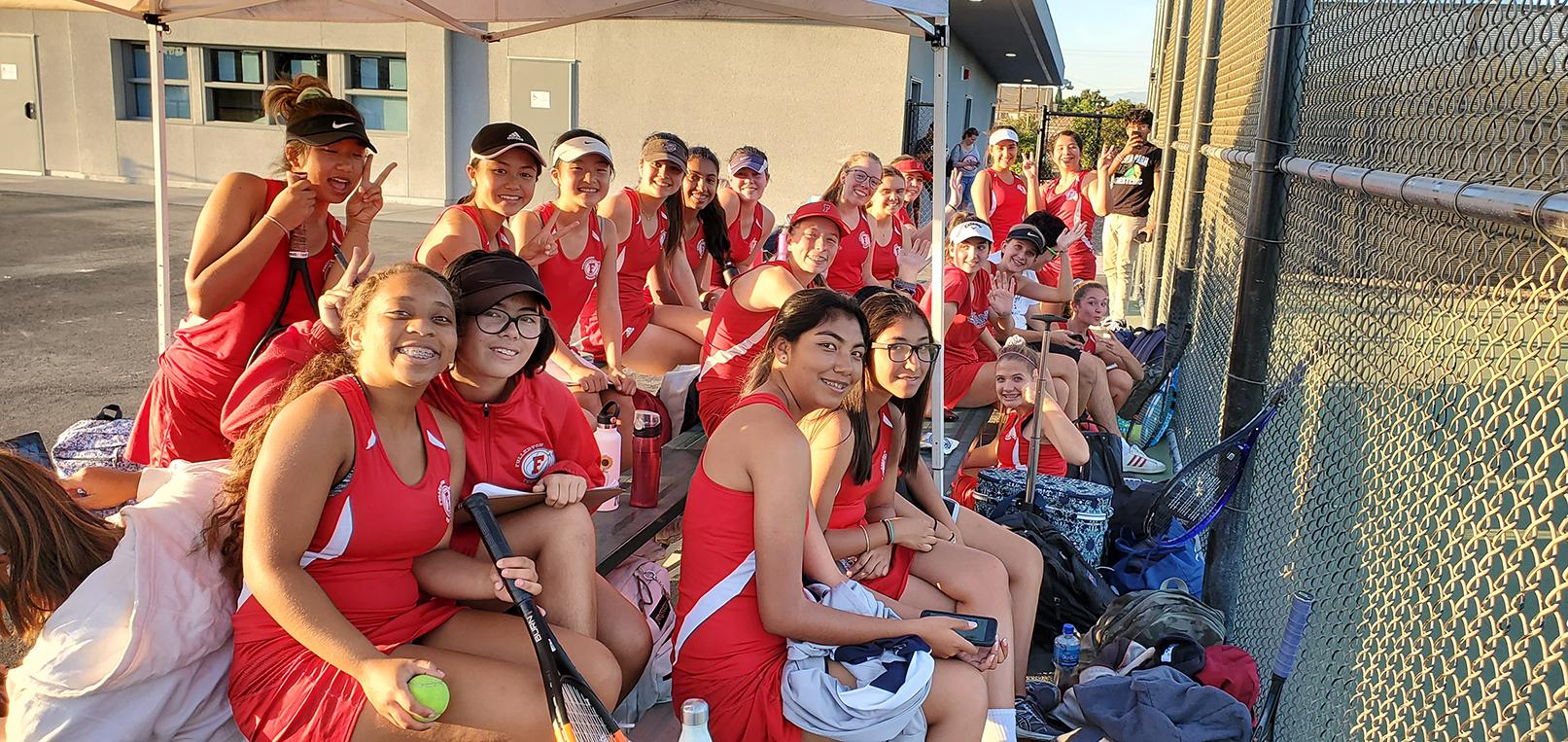 Girls Varsity Tennis beats Jurupa Valley 12 – 6
