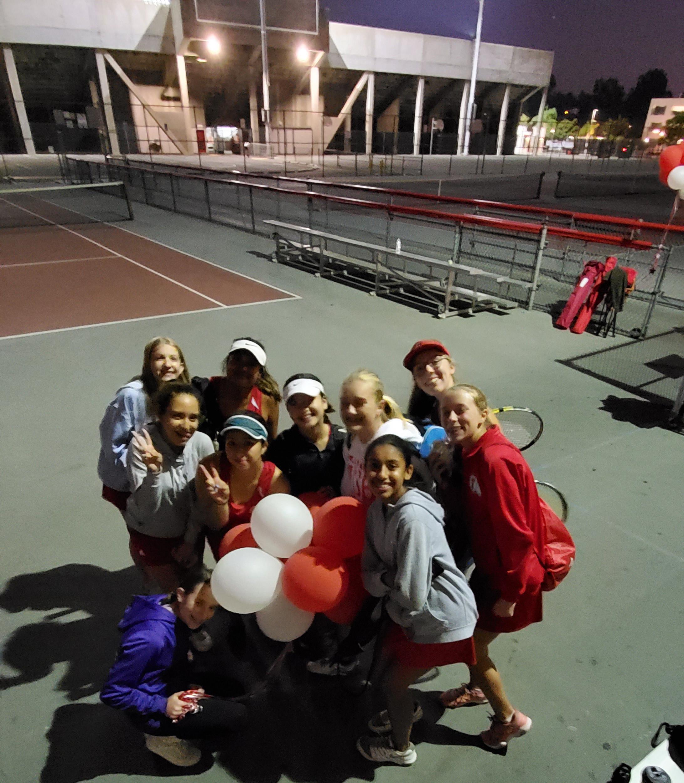 Girls Varsity Tennis beats Marshall 10 – 8