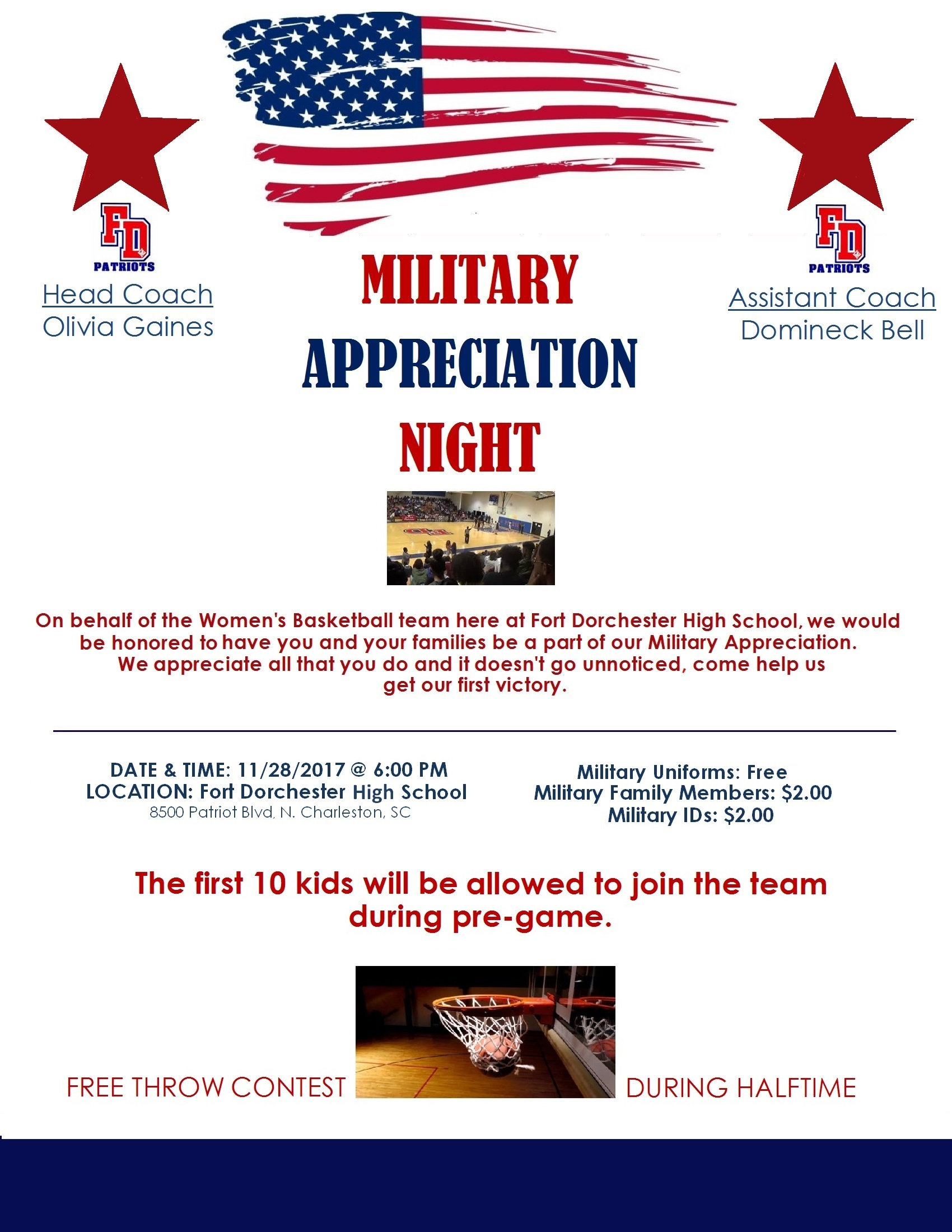 Basketball Opening Night – MILITARY APPRECIATION