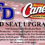 Raising Cane's Red Seat Upgrade