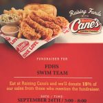 Swim Team Spirit Night at Raising Canes