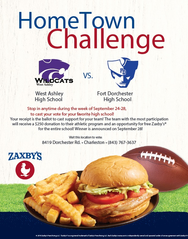 Fort Wins Zaxby's Hometown Challange