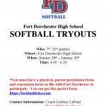 Softball Tryout Schedule