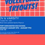 Volleyball Tryouts Aug 5-7